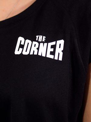 Женская футболка синтетика (CORNER) - Чёрный