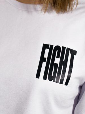 Свитшот женский (FIGHT) - Белый